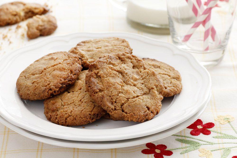 עוגיות שוקולד לבן קרמליות