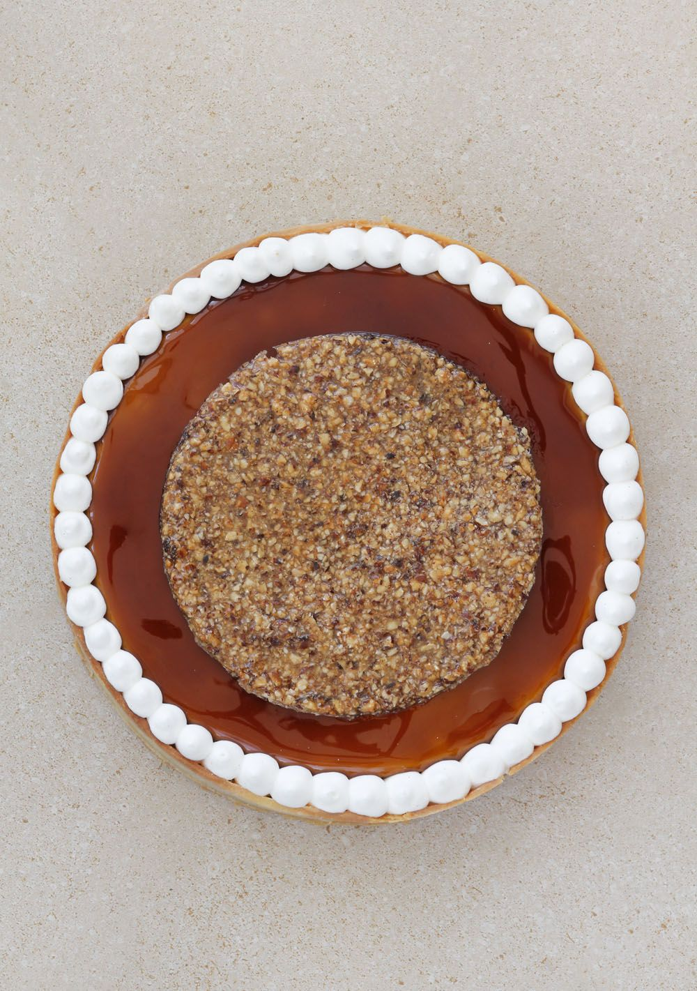 Hazelnuts and Coffee Tart with Vanilla Whipped Cream