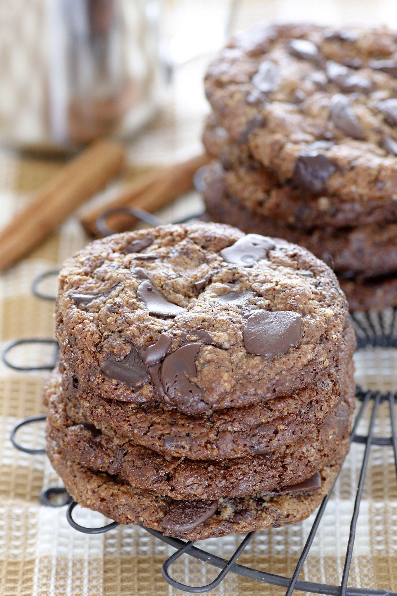 Gluten Free Chocolate Chip Cookies with Pumpkin Spice
