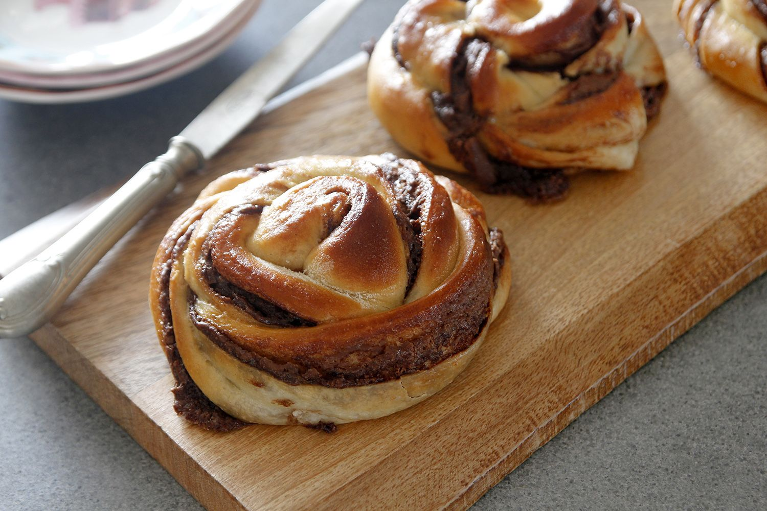 Soft Chocolate Rolls