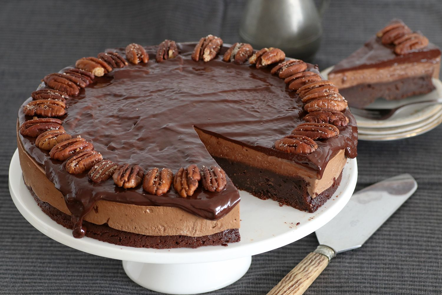 Gluten Free Chocolate Cake with Pecans