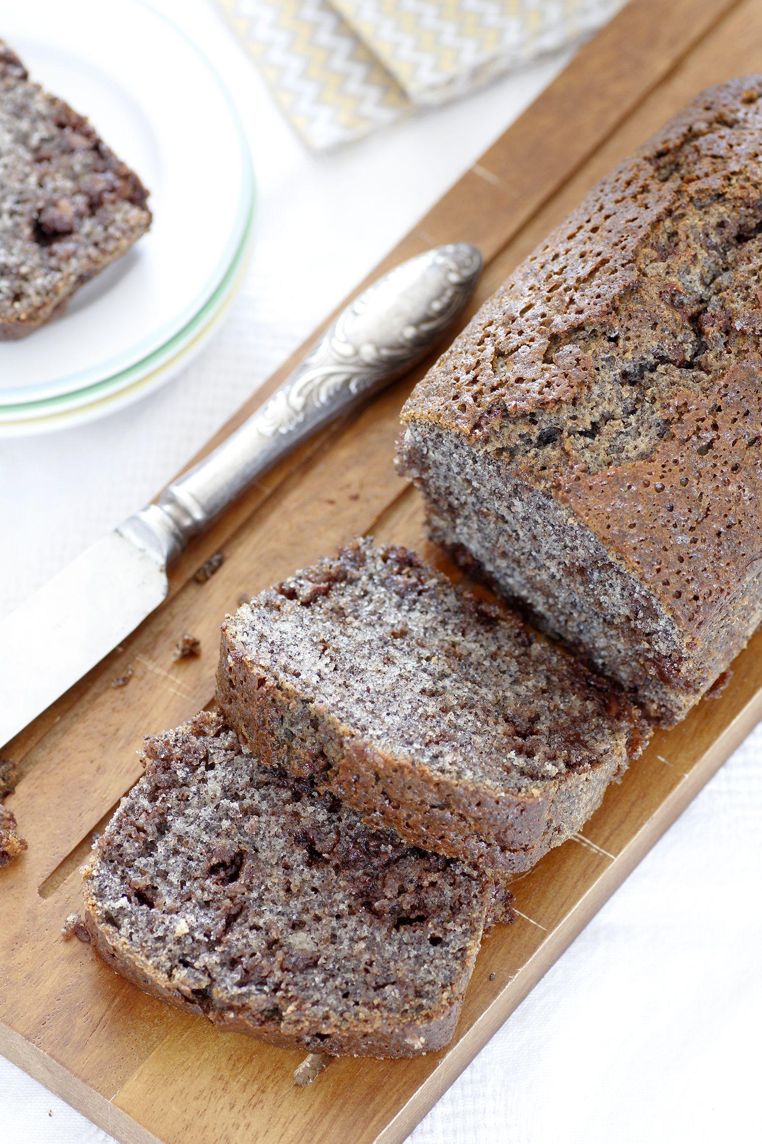 עוגת פרג ושוקולד צ'יפס