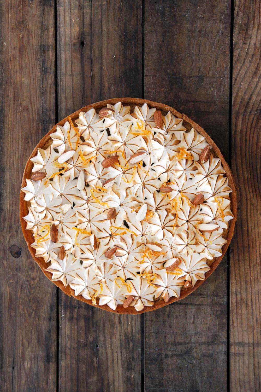 טארט תפוזים ומרנג עם קרם שקדים