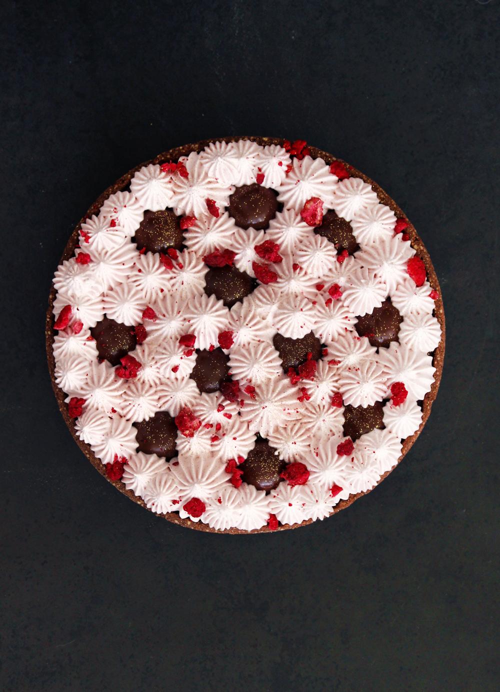 טארט שוקולד ופטל ללא קמח