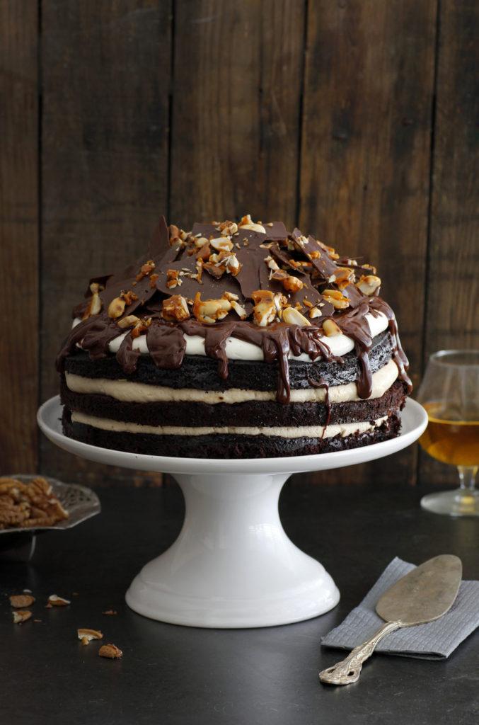 עוגת שוקולד, וויסקי וקפה