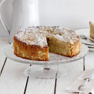 עוגת תפוחים ופירורים