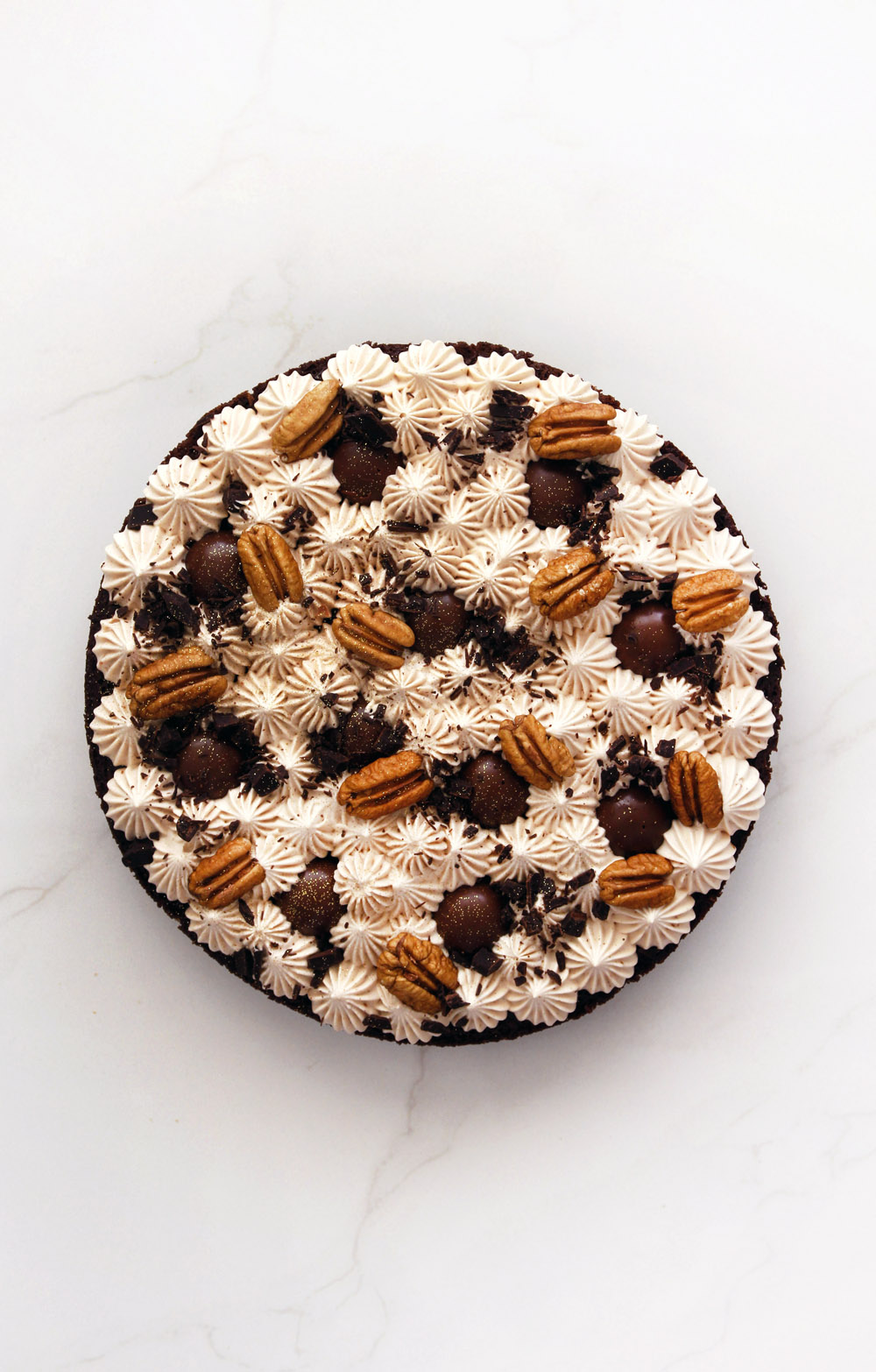 Chocolate, Pecan and Praline Cake | lil-cookie