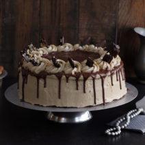 עוגת שכבות שוקולד וקפה