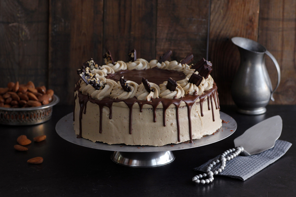 Chocolate Layer Cake with Coffee Cream