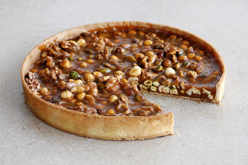 Nutty Caramel Tart
