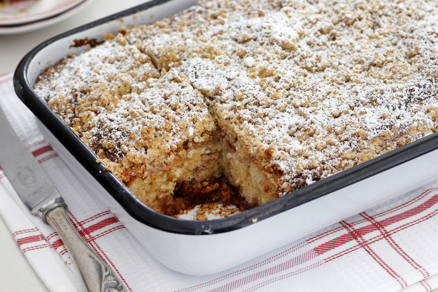 Streusel Cake with Jam