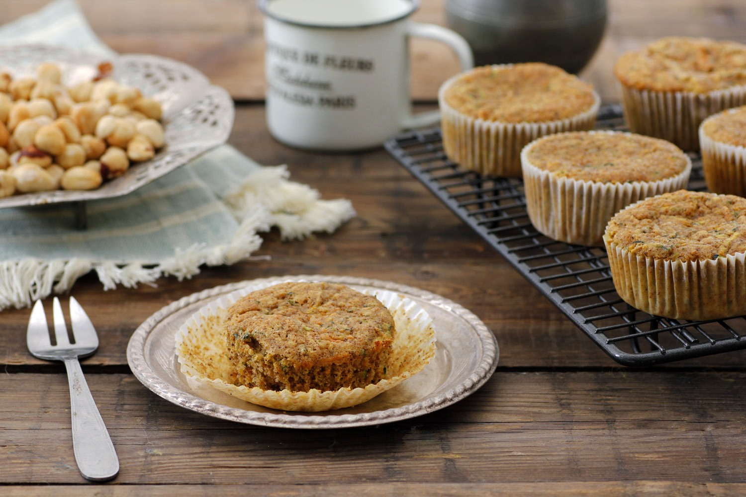 Carrot Muffins with Zucchini