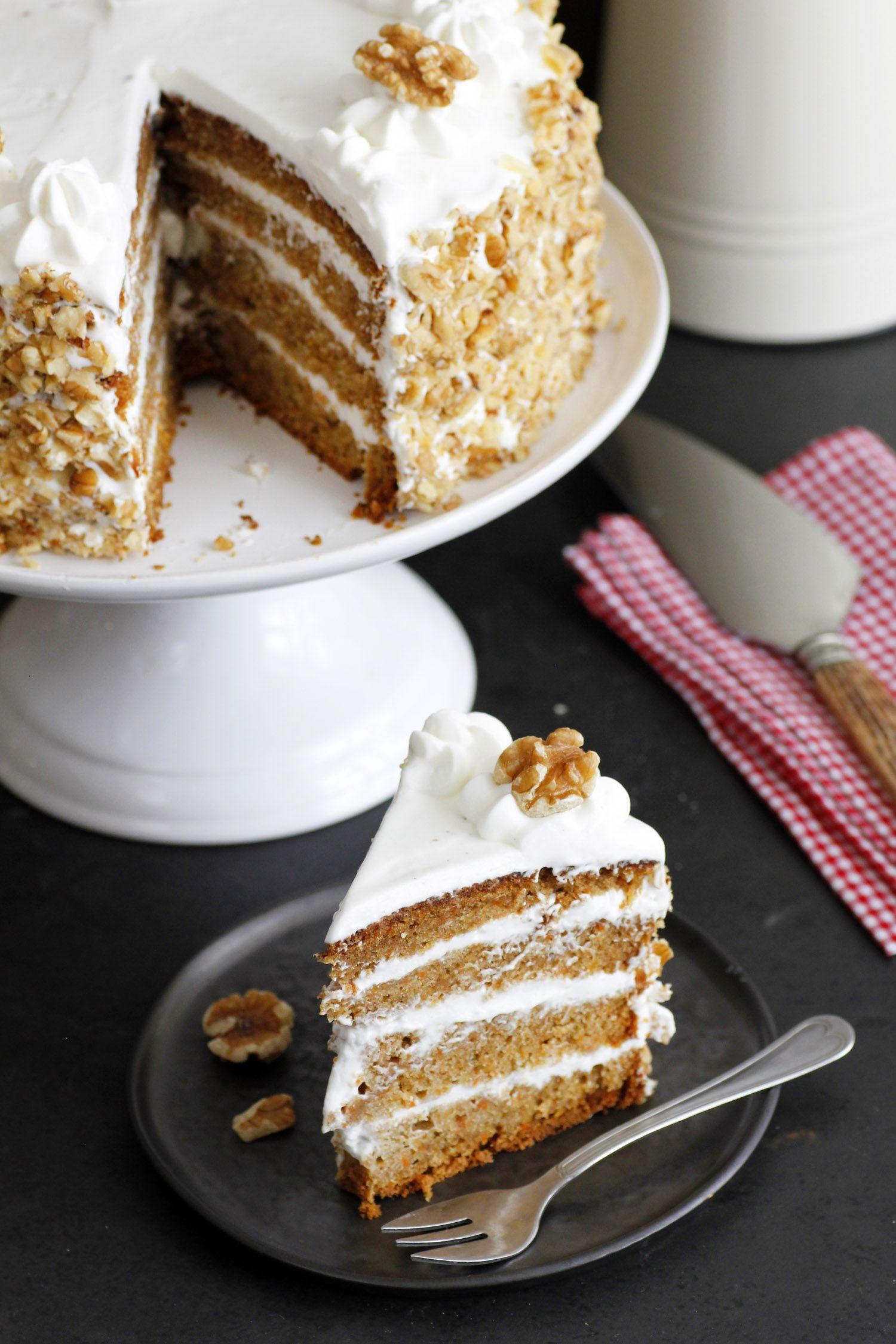 עוגת גזר וגבינת שמנת