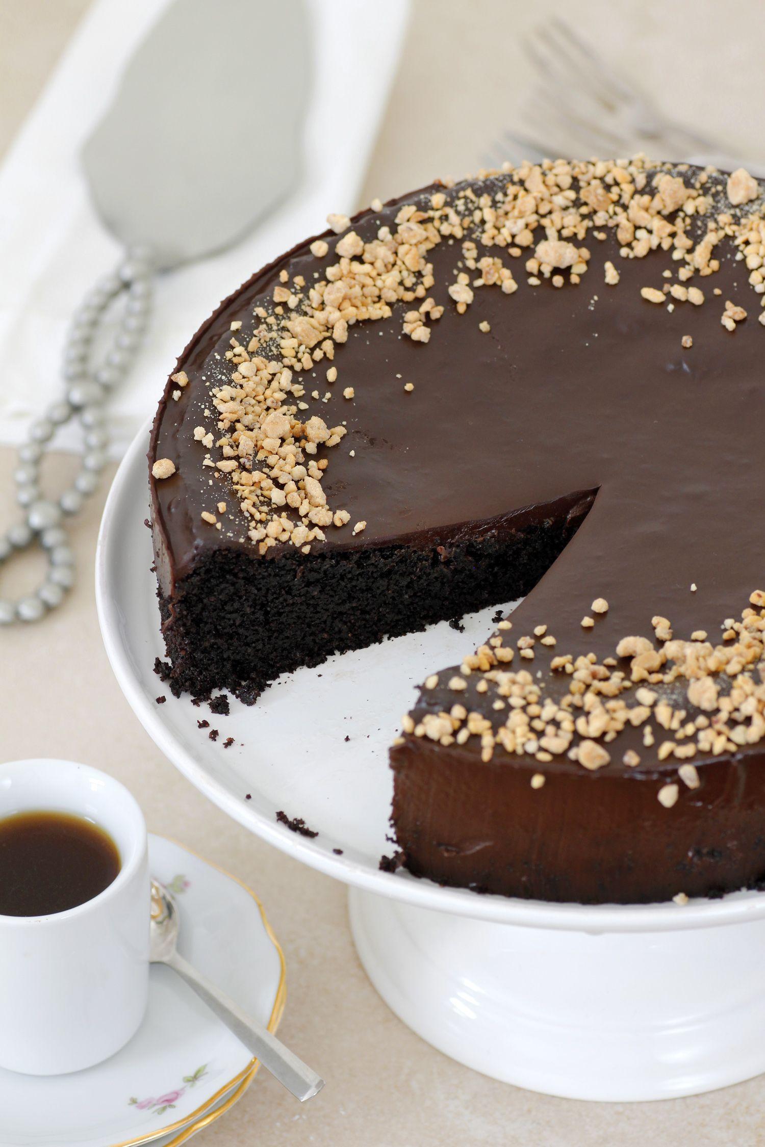 עוגת שוקולד, שקדים ושמן זית