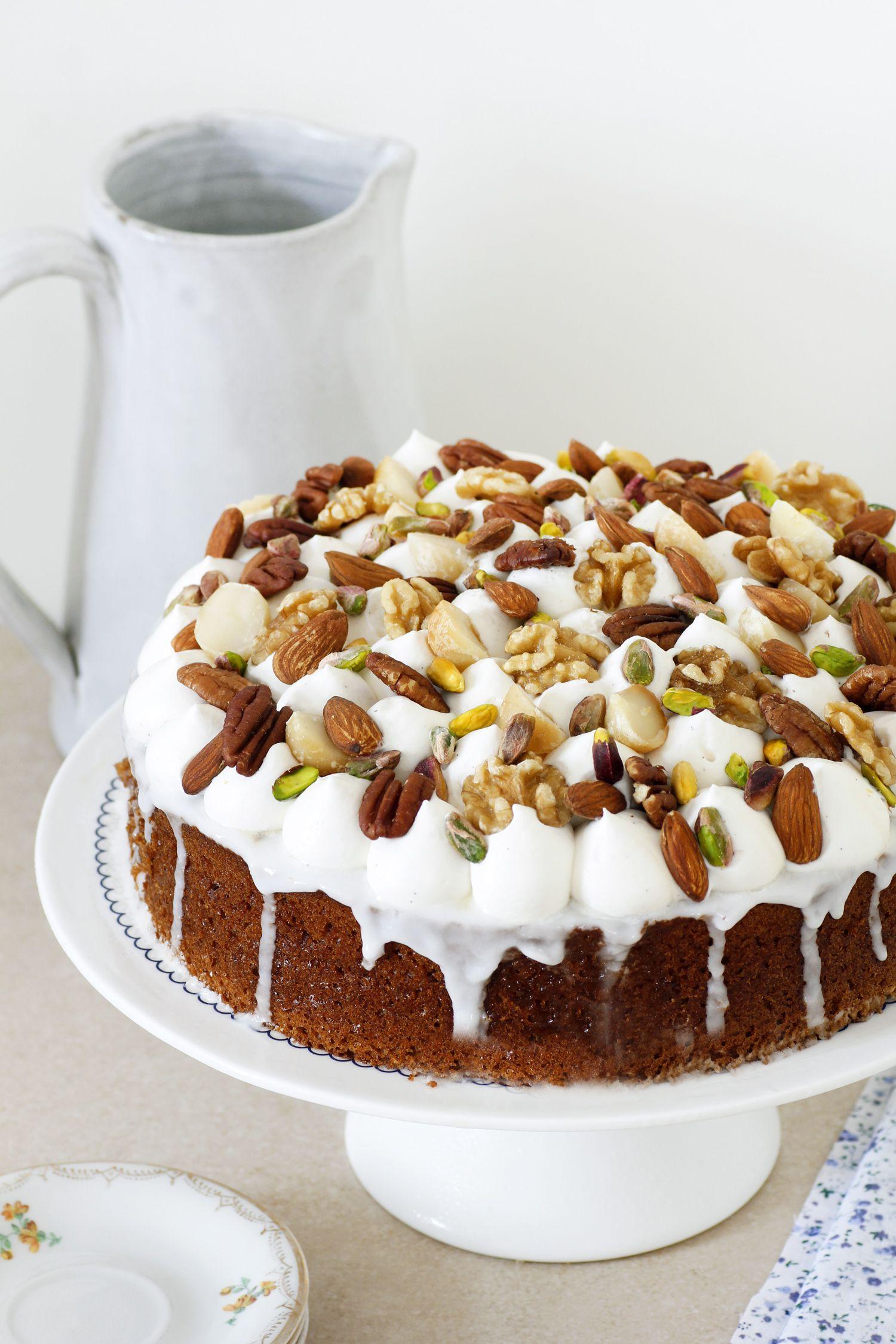 עוגת דבש עם ארל גריי ואגוזים