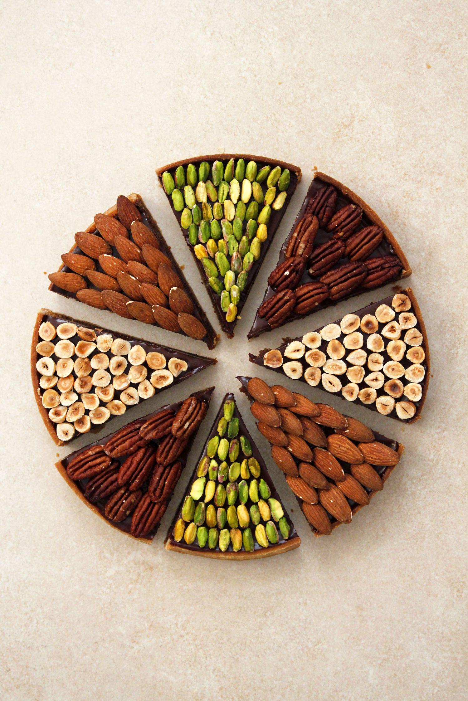 פאי שוקולד ואגוזים בעיצוב מודרני