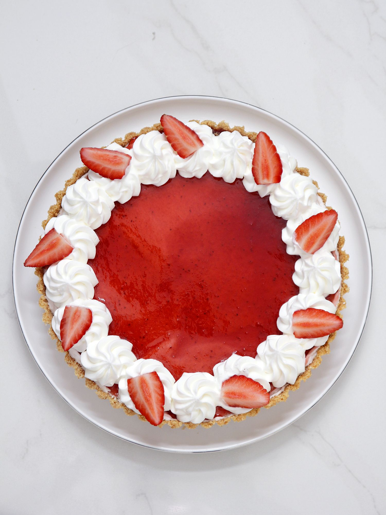 for White chocolate and strawberry tart