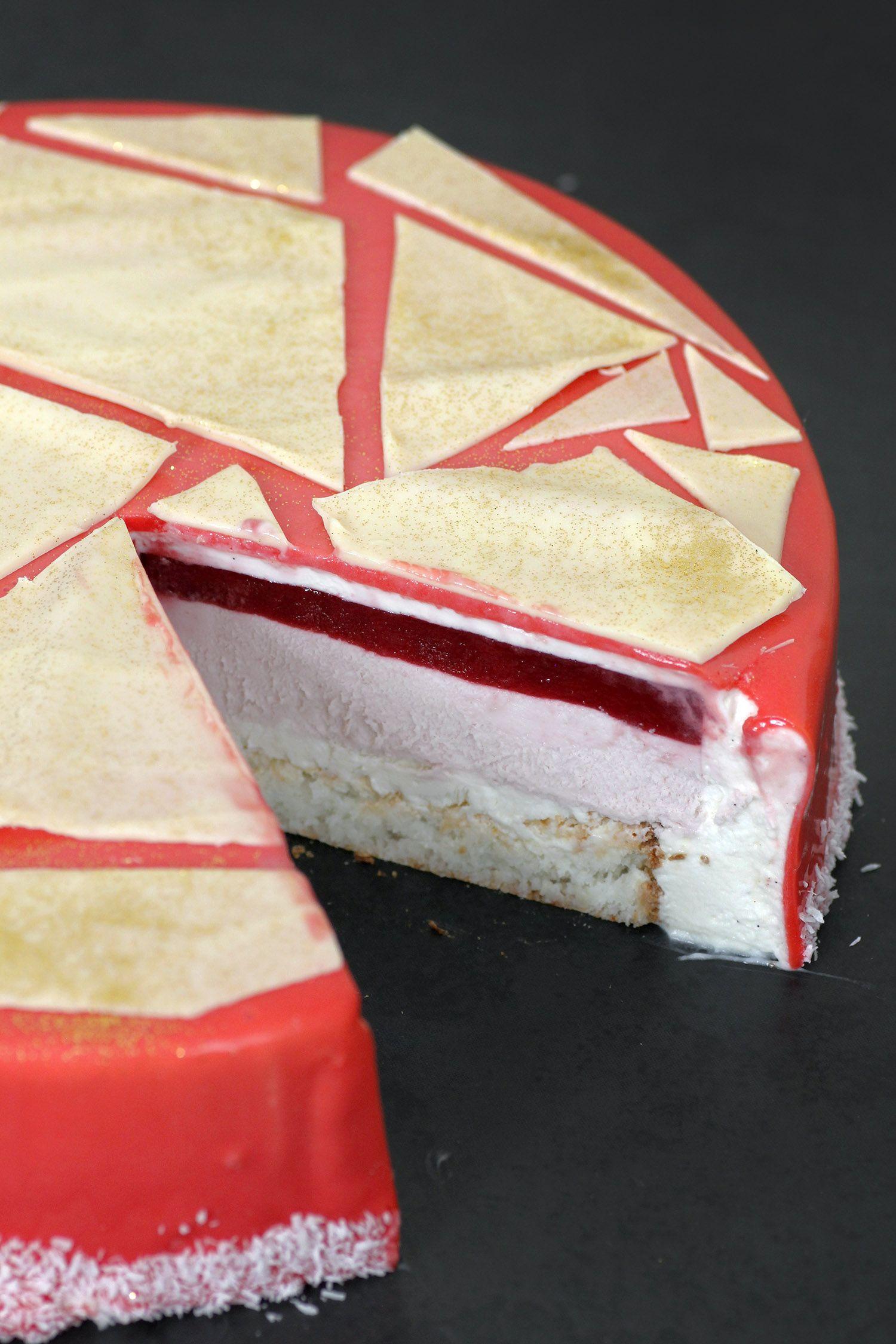 עוגת מוס פטל וקוקוס