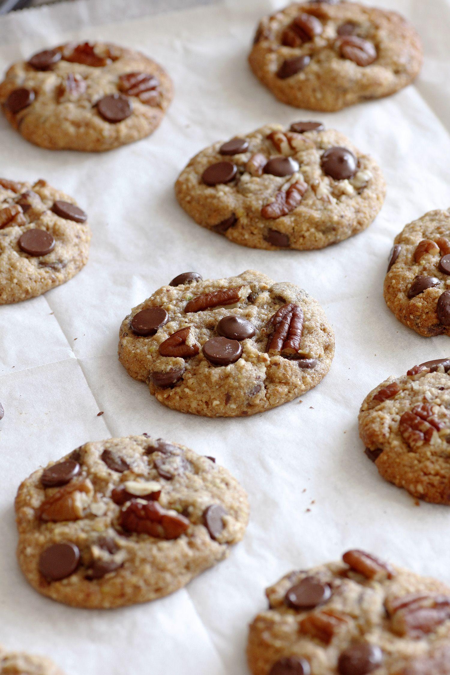 עוגיות פקאן עם שוקולד צ'יפס