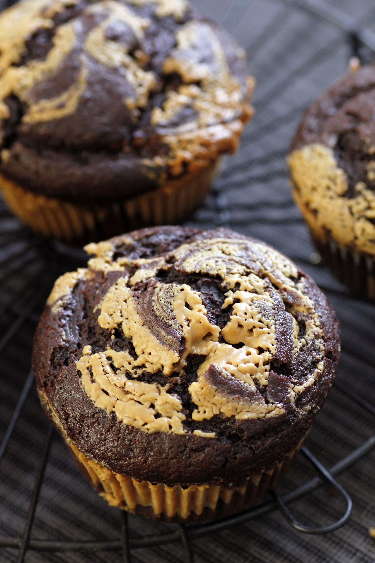 Peanut Butter Chocolate Muffins