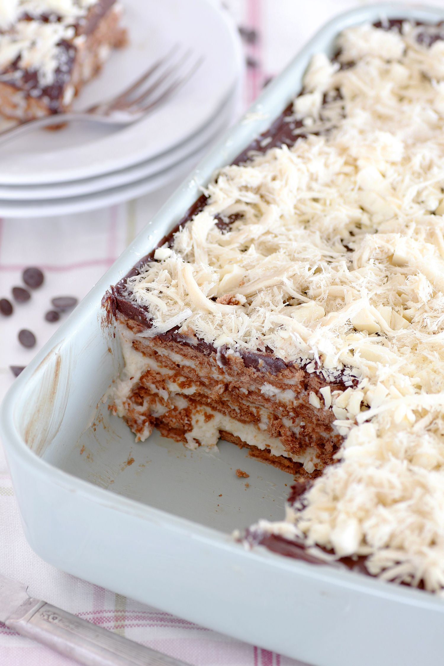 Tahini Chocolate Icebox Cake