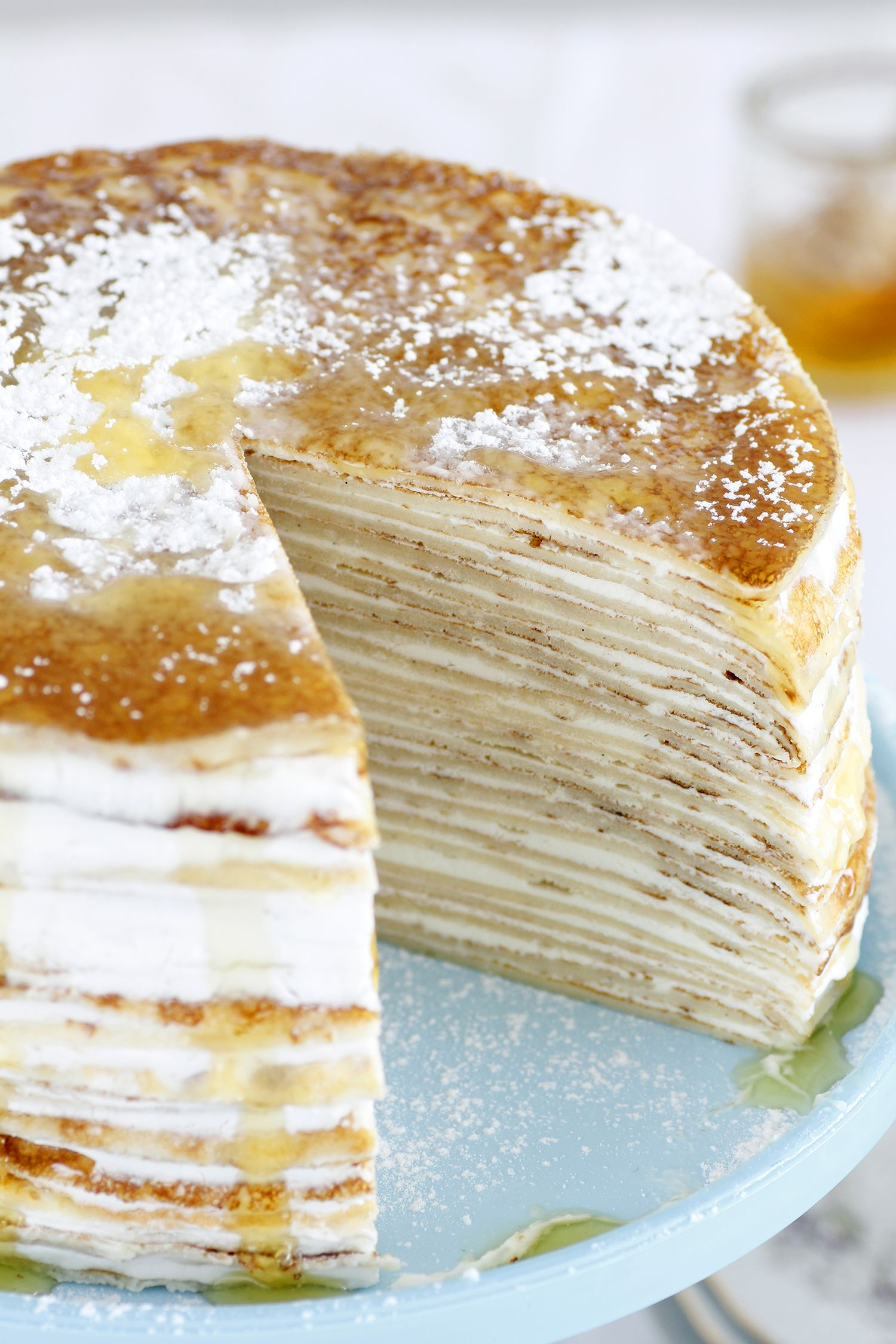 Medovik Crepe Cake