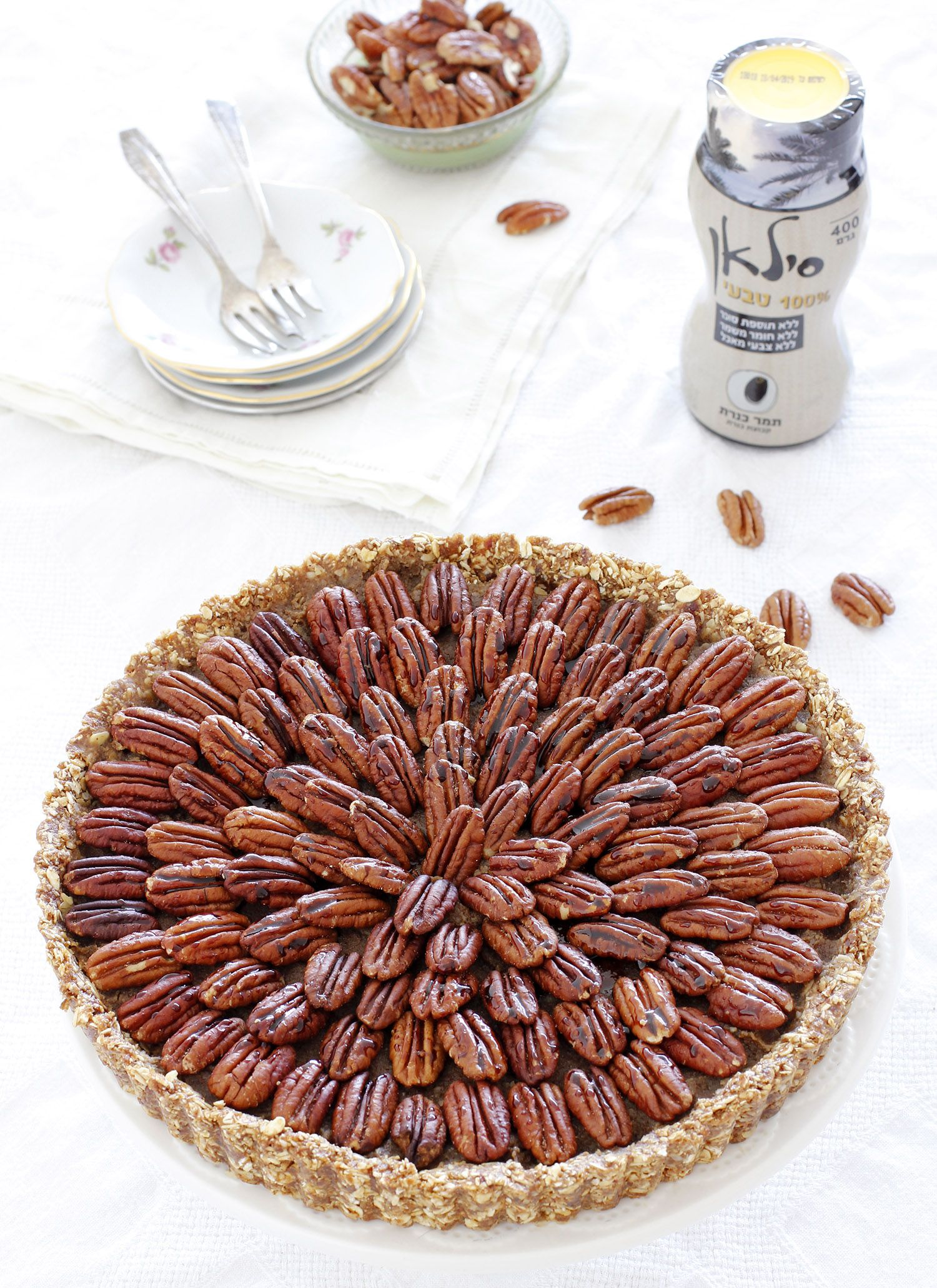 No Bake Vegan Pecan Pie with Date Syrup