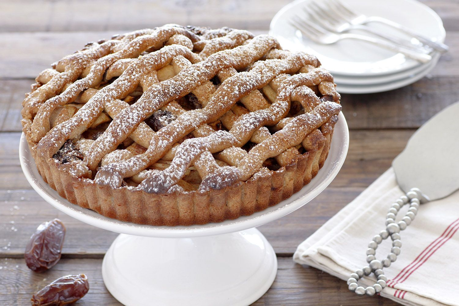 Apple Pie with Madjhul Dates