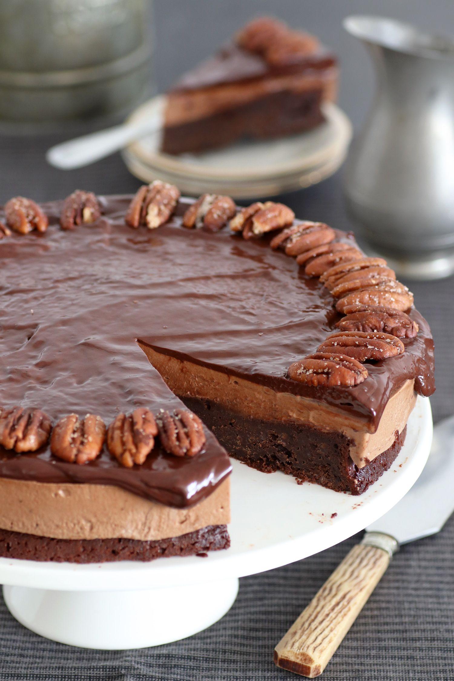 עוגת שוקולד ופקאן ללא גלוטן | צילום: נטלי לוין