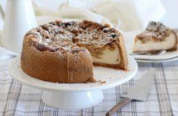 עוגת גבינה פאי תפוחים | צילום: נטלי לוין