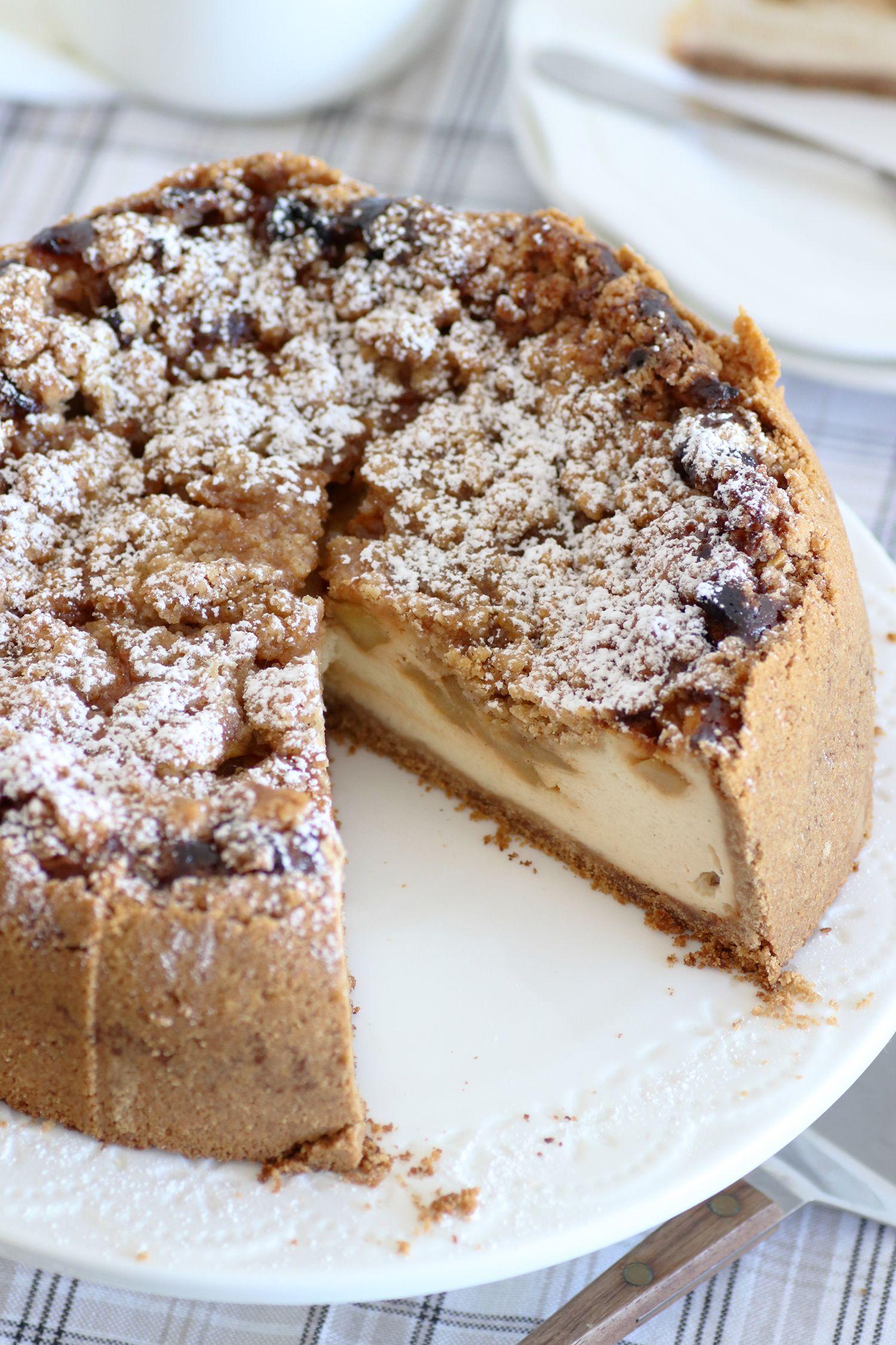 עוגת גבינה פאי תפוחים