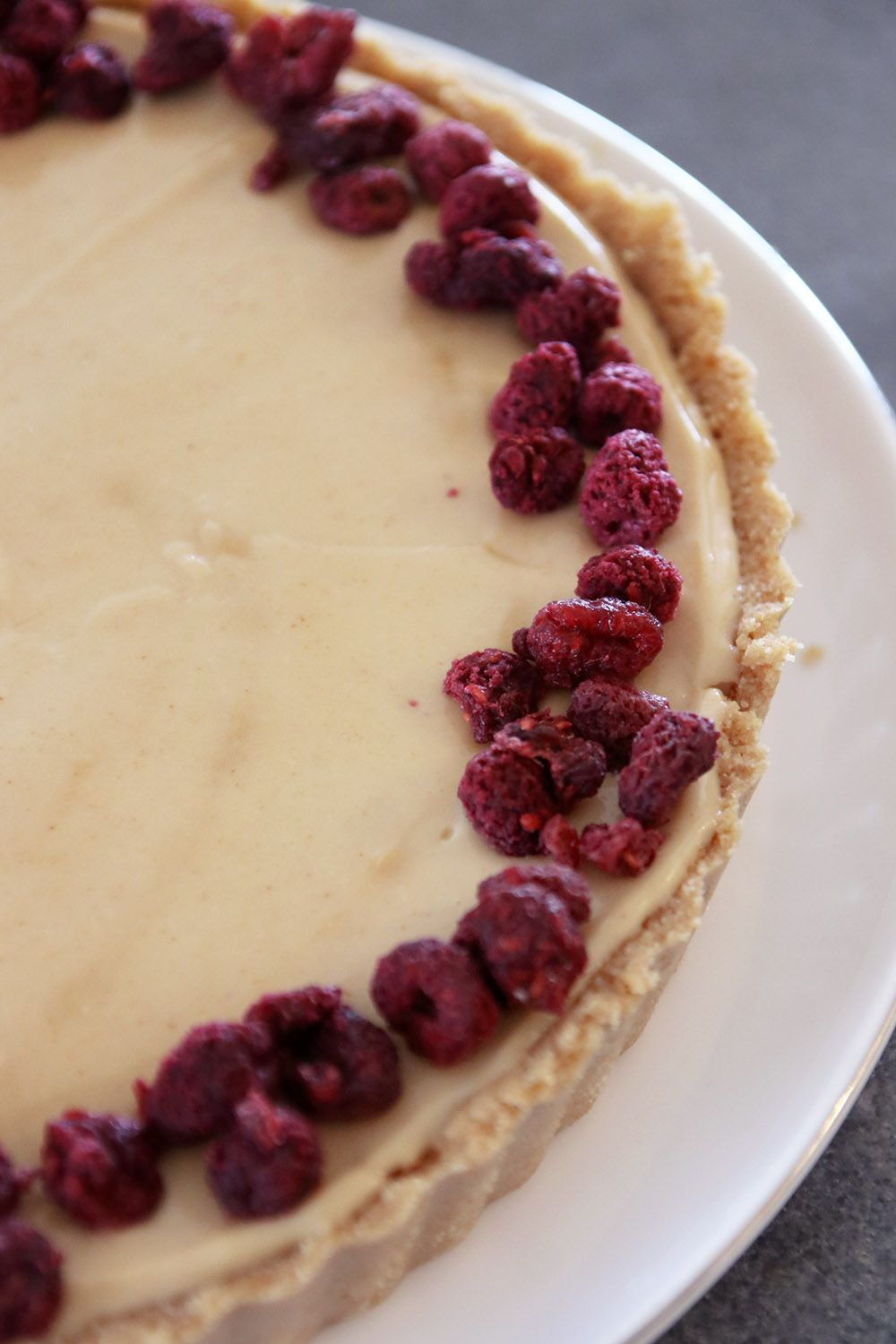 Vegan Peanut Butter and Jelly Tart