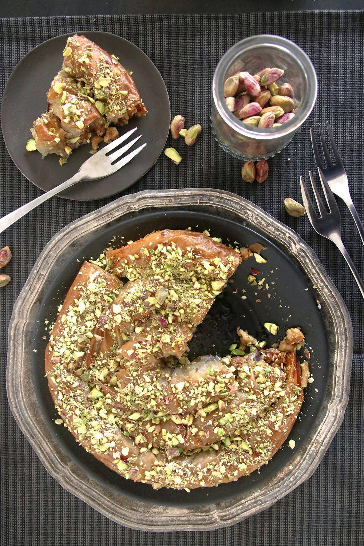 עוגת בקלאווה פיסטוק ופקאן