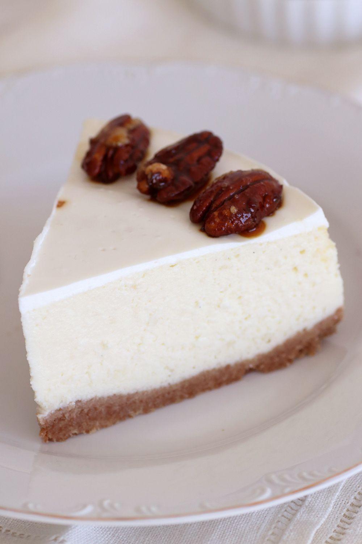 עוגת גבינה עם שוקולד לבן ופקאן | צילום: נטלי לוין