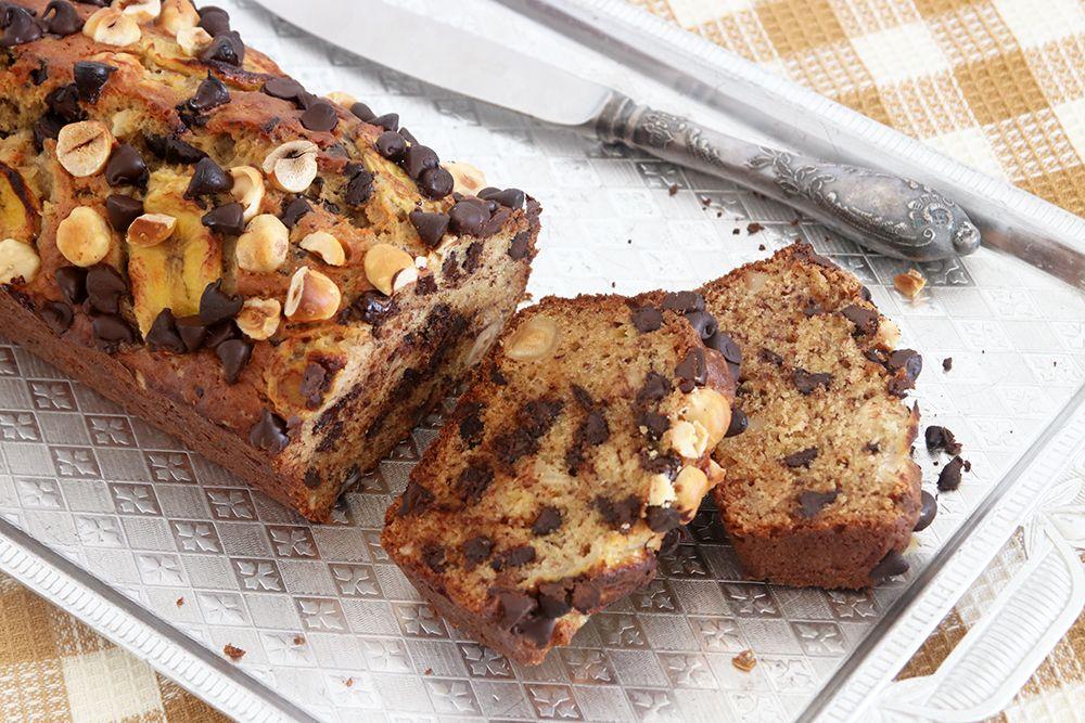 לחם בננות עם שוקולד צ'יפס ואגוזים | צילום: נטלי לוין