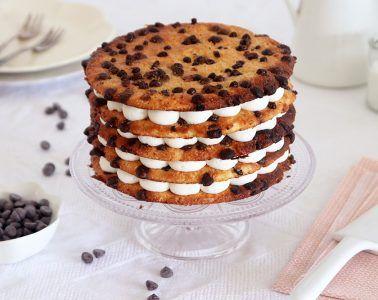 עוגת עוגיות שוקולד צ'יפס עם קרם מסקרפונה | צילום: נטלי לוין
