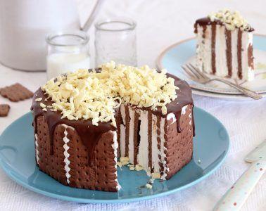 עוגת ביסקוויטים דאבל שוקולד | צילום: נטלי לוין