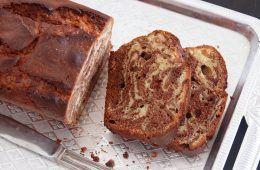 עוגת שיש שוקולד וחמאת בוטנים | צילום: נטלי לוין