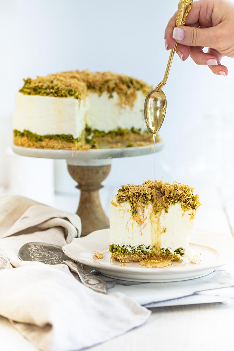 עוגת גבינה בקלאווה קדאיף   צילום: חן שוקרון