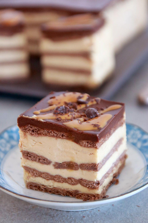 עוגת ביסקוויטים חמאת בוטנים ושוקולד | צילום: נטלי לוין
