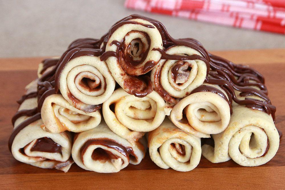 מגדל קרפים במילוי שוקולד   צילום: נטלי לוין