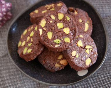 עוגיות שוקולד ופיסטוק   צילום: נטלי לוין